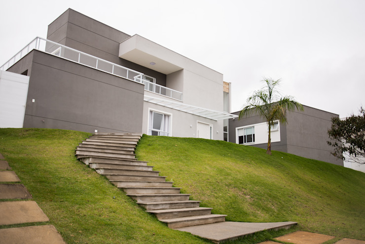 Дома в стиле модерн от L2 Arquitetura Модерн Бетон