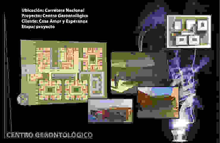 Centro Gerontológico Dormitorios minimalistas de NUMERO SEIS Minimalista Concreto