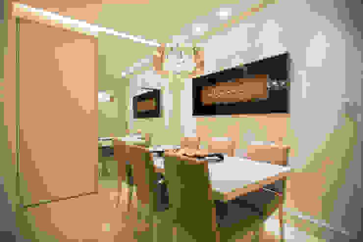 Comedores de estilo moderno de L2 Arquitetura Moderno
