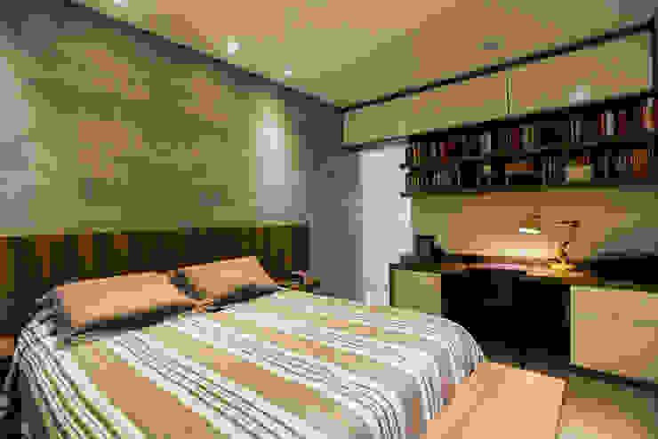 L2 Arquitetura Camera da letto moderna Cemento Grigio
