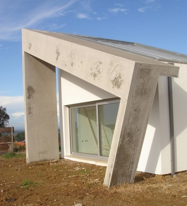 Pala sala musica Casas minimalistas por Arquitecto Aguiar Minimalista Betão armado