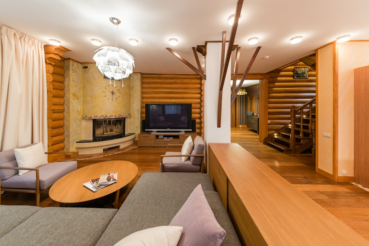 Living room by ARK BURO, Eclectic Wood Wood effect