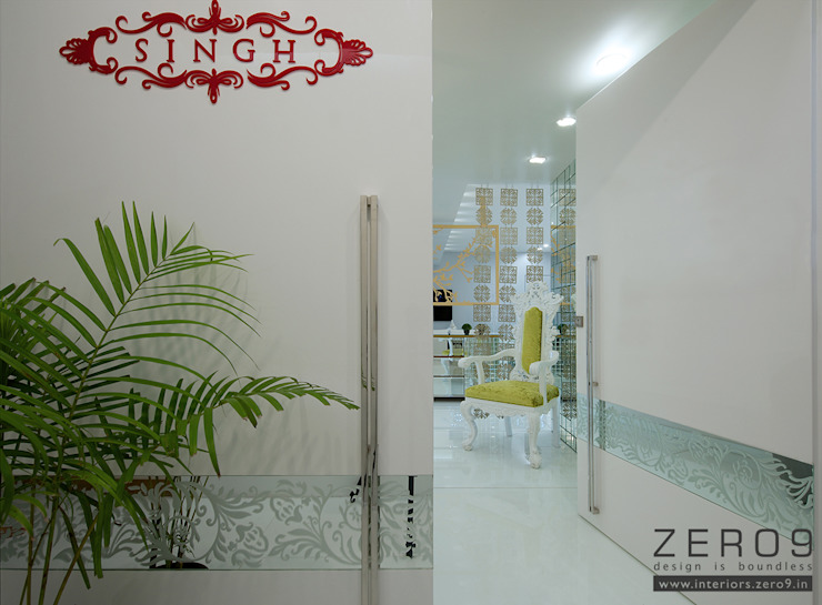 home Asian style corridor, hallway & stairs by ZERO9 Asian