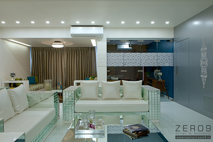 home Asian style living room by ZERO9 Asian