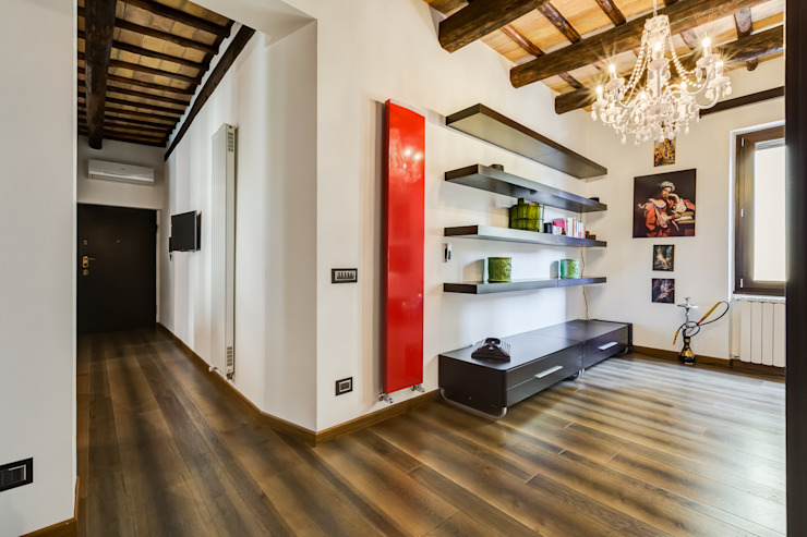 Modern Corridor, Hallway and Staircase by EF_Archidesign Modern