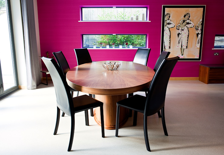 Vibrant Residential Home in Poole Dorset by WN Interiors. Modern dining room by homify Modern