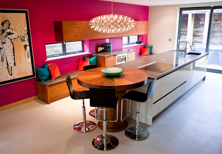 Vibrant Residential Home in Poole Dorset by WN Interiors. Modern kitchen by homify Modern