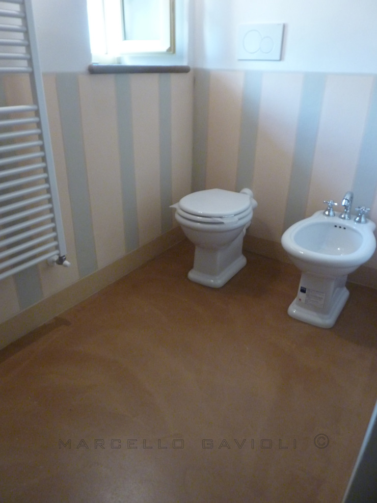 Marcello Gavioli Mediterranean style bathrooms Beige