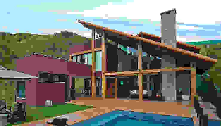 Casas de estilo rural de David Guerra Arquitetura e Interiores Rural