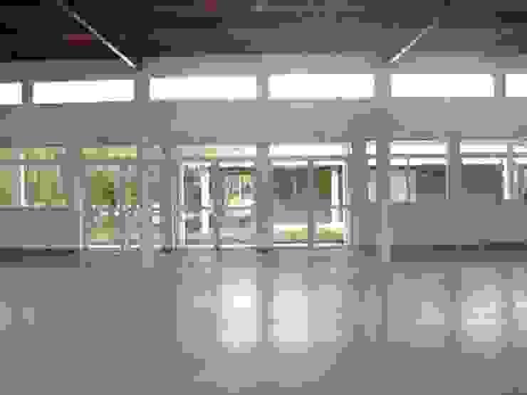 Salón acceso Salas multimedia modernas de Lineasur Arquitectos Moderno Granito