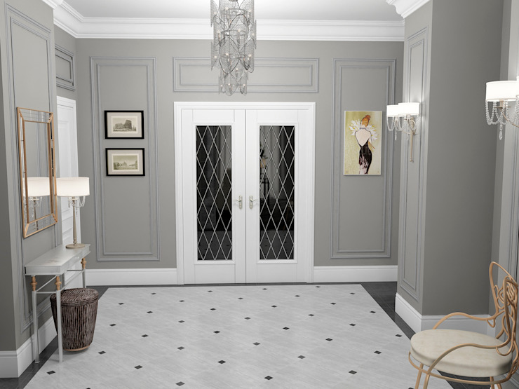 Classic style corridor, hallway and stairs by Проектное бюро O.Diordi Classic