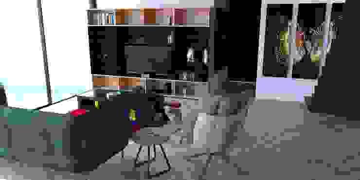 Propuesta interiores. Salones modernos de Eidética Moderno