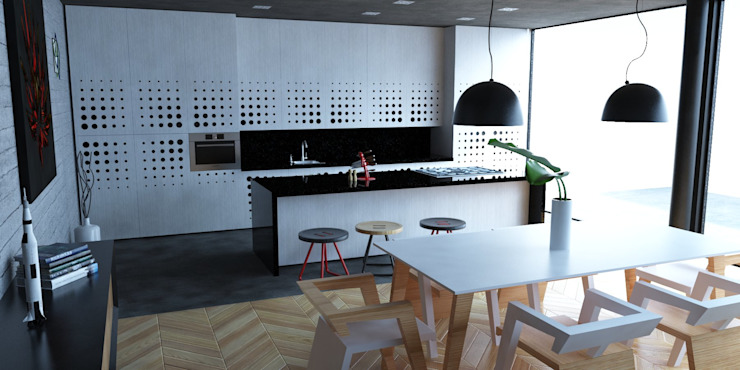 Kitchen by Eidética, Modern