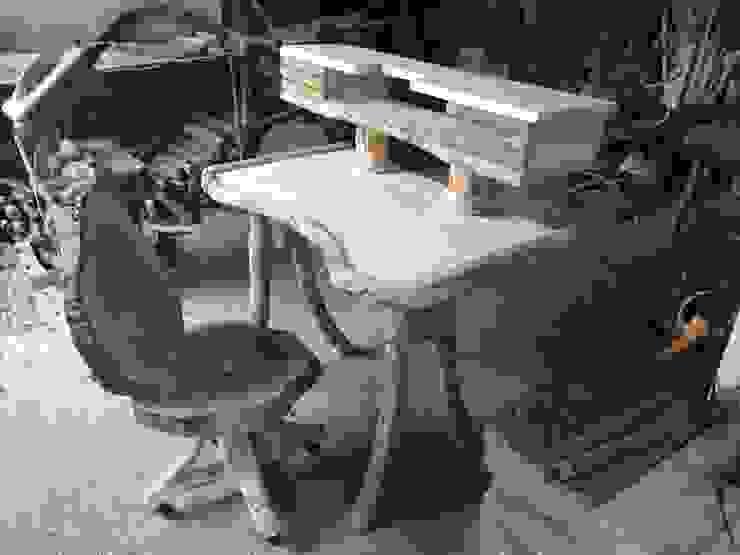 ahşap döner sandalye ve çalışma masası Coşkun Ahşap Dekorasyon Rustik Ahşap Ahşap rengi
