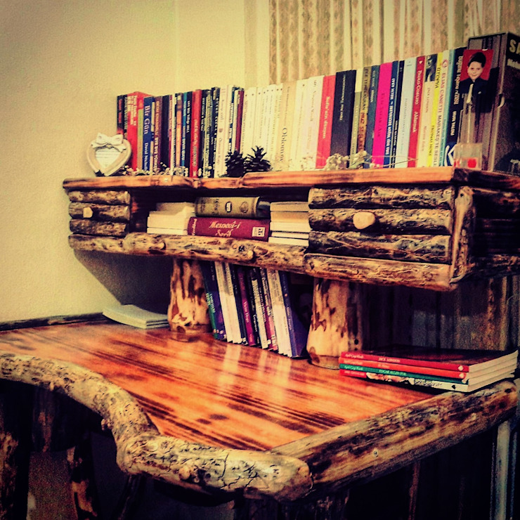 çalışma masası Coşkun Ahşap Dekorasyon Rustik Ahşap Ahşap rengi