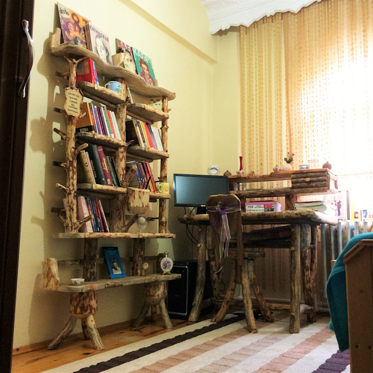 kitaplık&masa Coşkun Ahşap Dekorasyon Rustik Ahşap Ahşap rengi