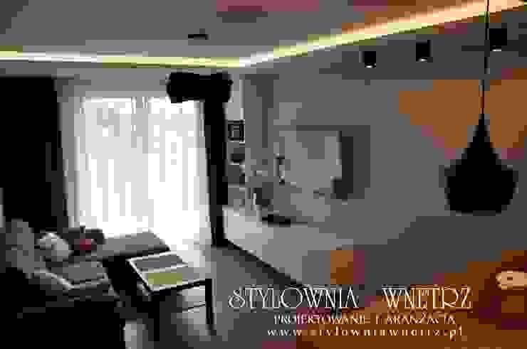 Stylownia Wnętrz Modern living room Blue