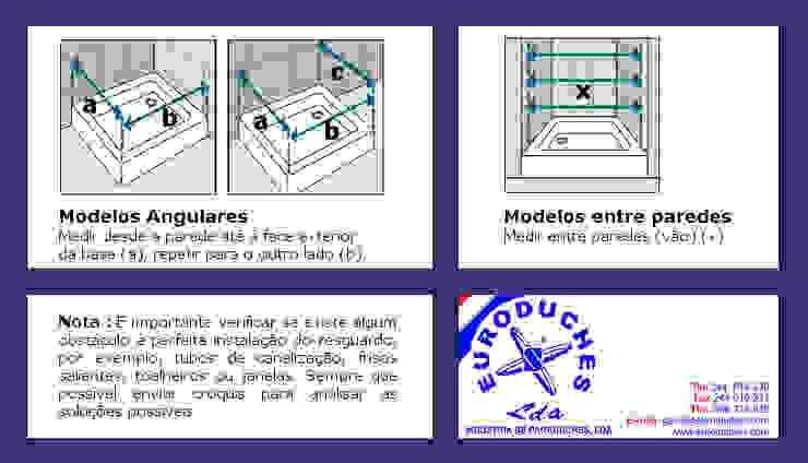 Como tirar medidas para cabines de duche ou resguardos de banho por Euroduches Lda. Clássico