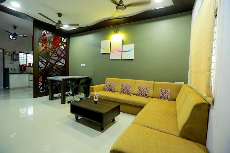 Living Room Modern living room by ZEAL Arch Designs Modern