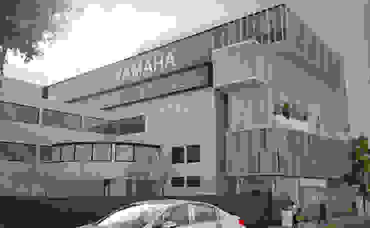 Fachada Yamaha Insurgentes Estudios y despachos modernos de Arquitectos M253 Moderno