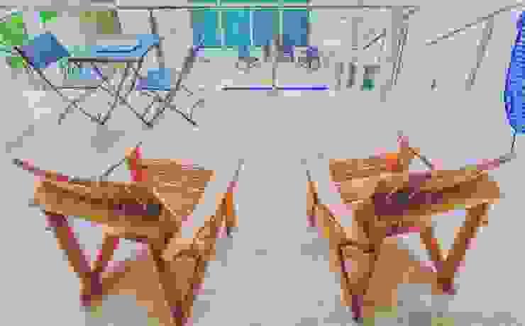 Adirondack Chairs made in Spanish Cedar Natureflow® Balconies, verandas & terraces Furniture Wood
