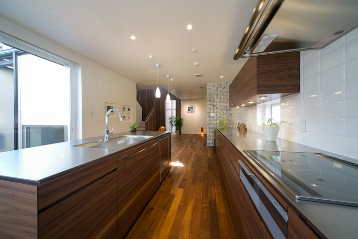 Modern kitchen by アーキシップス京都 Modern Wood Wood effect