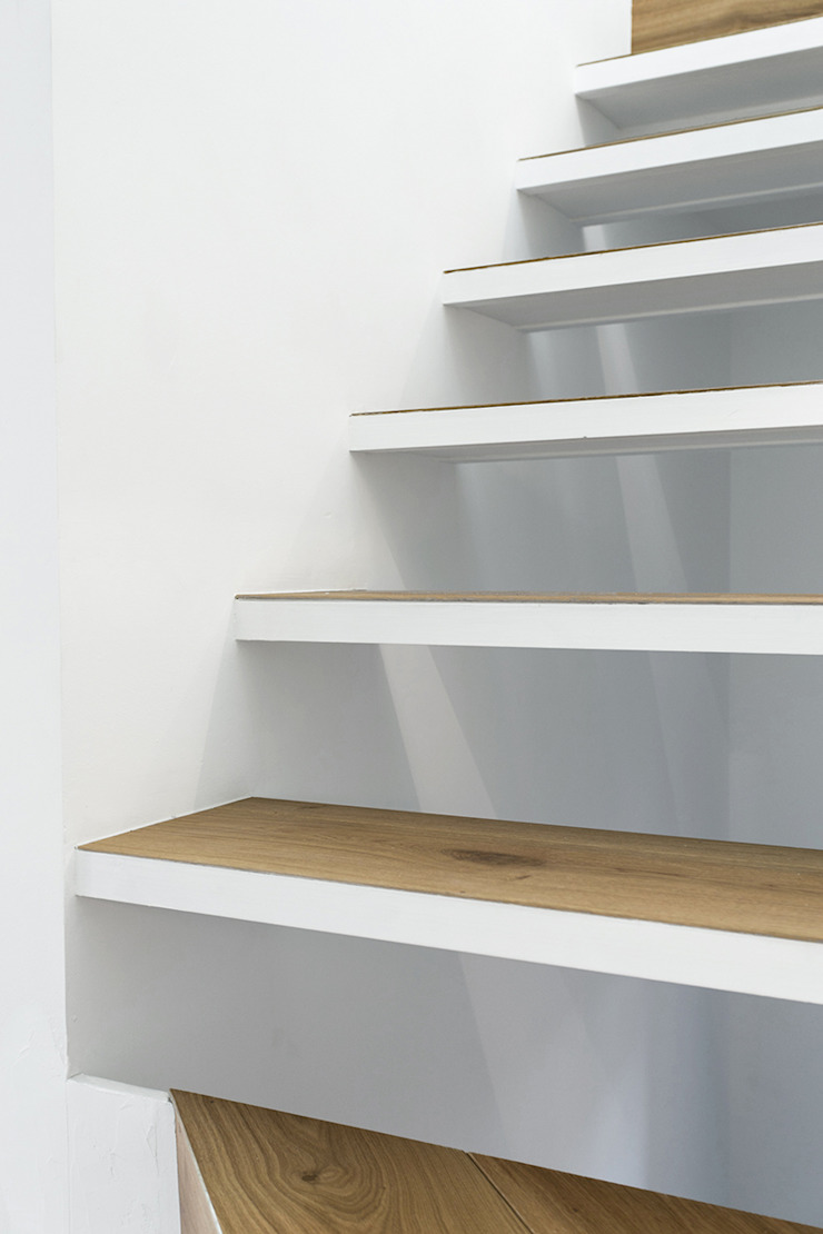 dom arquitectura Minimalist corridor, hallway & stairs