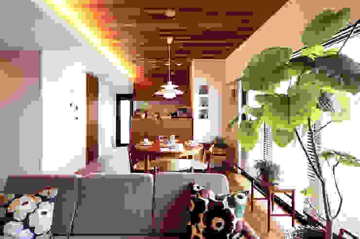 Scandinavian style dining room by C-design吉内建築アトリエ Scandinavian