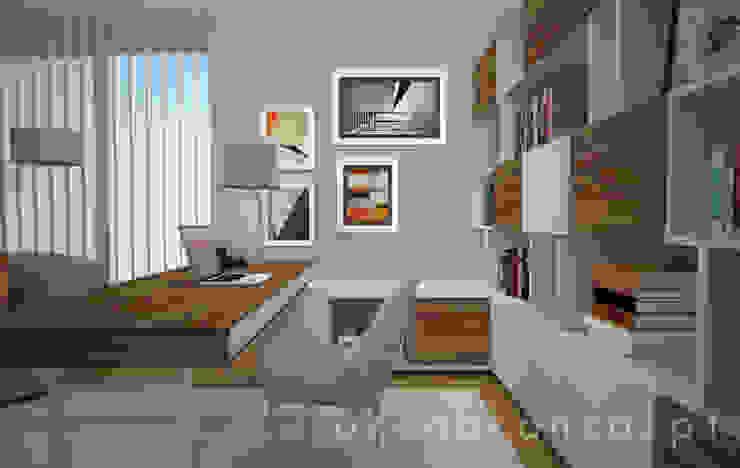 Estudios y oficinas modernos de Areabranca Moderno