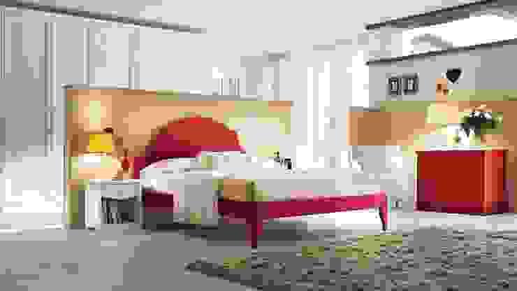 Modern-Country Bedroom by Casa Più Arredamenti