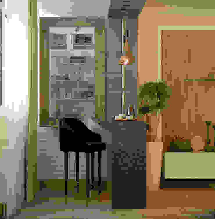 Balkon, Beranda & Teras Gaya Country Oleh Студия интерьерного дизайна happy.design Country