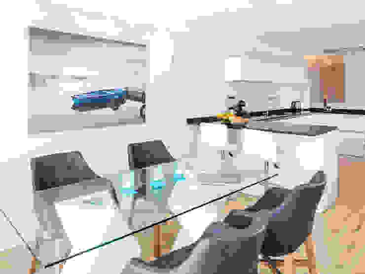Casa Milhafre Salas de jantar modernas por Hi-cam Portugal Moderno