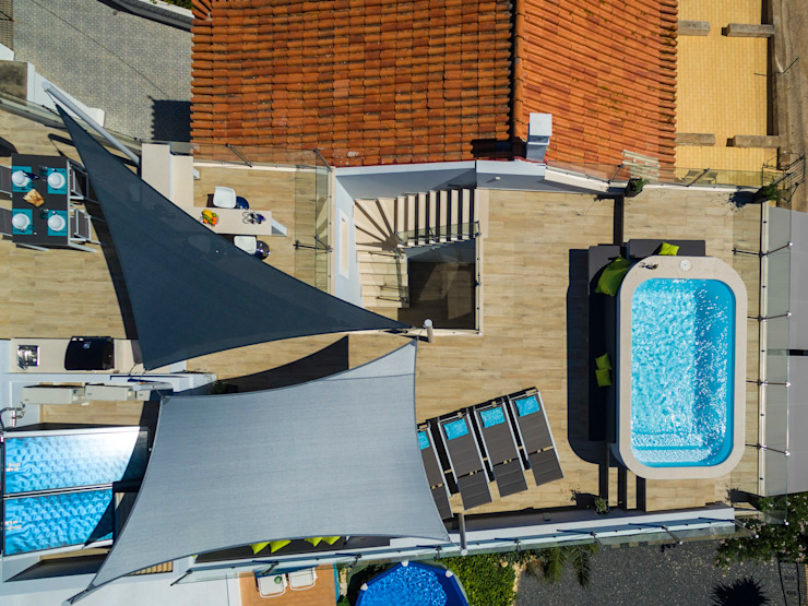 Moderner Balkon, Veranda & Terrasse von Hi-cam Portugal Modern