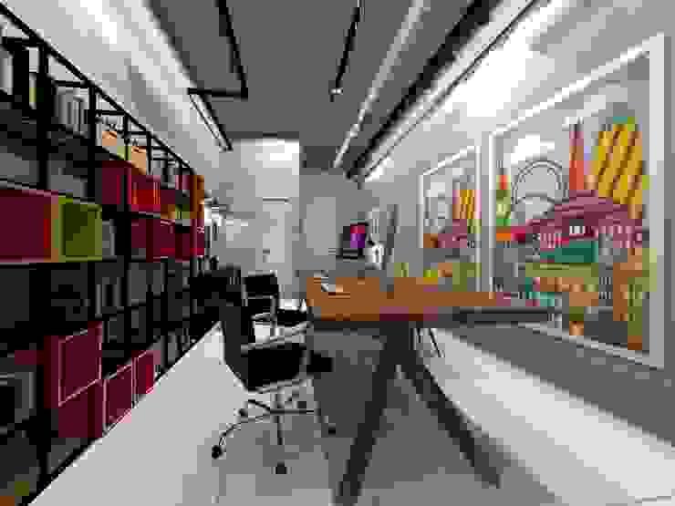 Escritório de Arquitetura Edificios de oficinas de estilo industrial de Arquiteto Lucas Lincoln Industrial