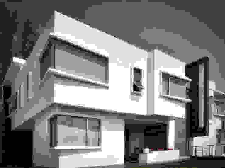 SALA EXTERIOR Casas minimalistas de homify Minimalista Arenisca
