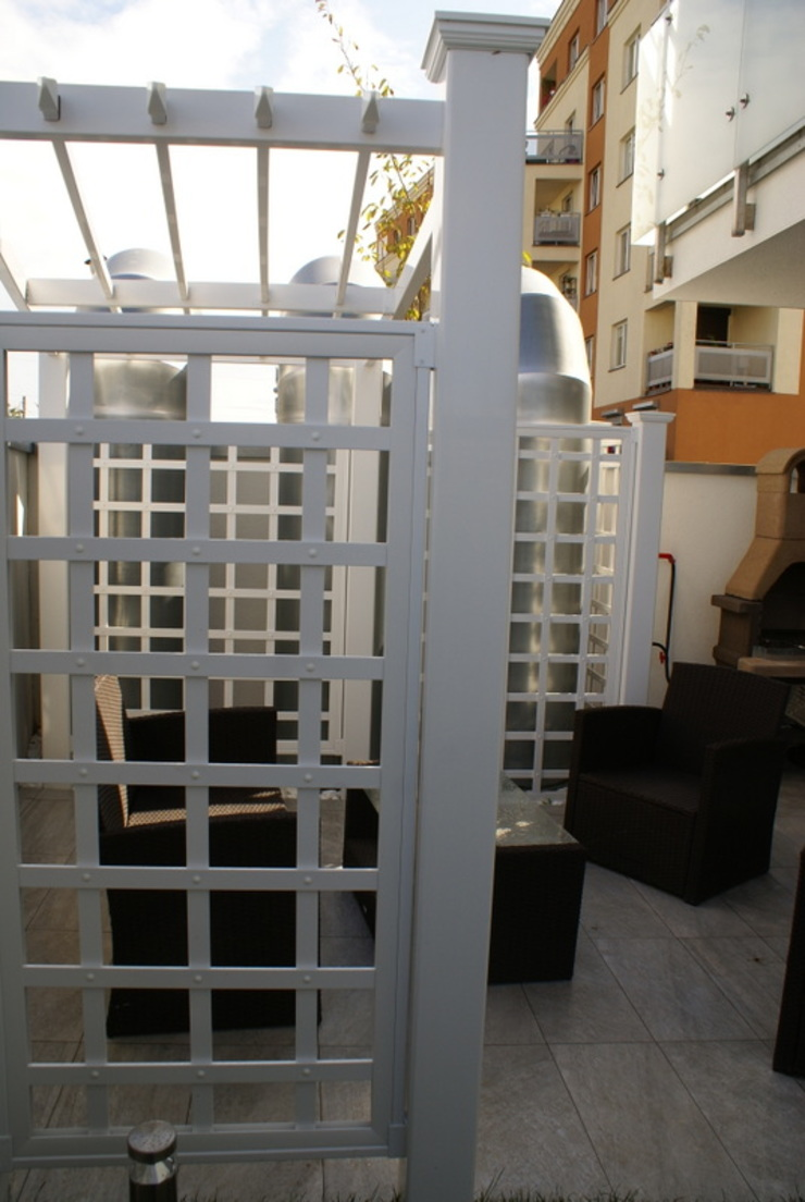 TOP FENCE s.c. Garden Greenhouses & pavilions Plastic White