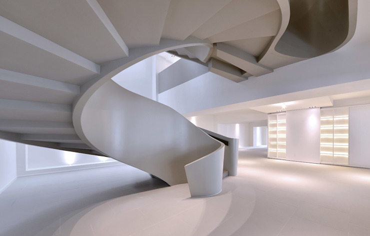 THE RIBBON HOUSE Minimalist corridor, hallway & stairs by FAK3 Minimalist