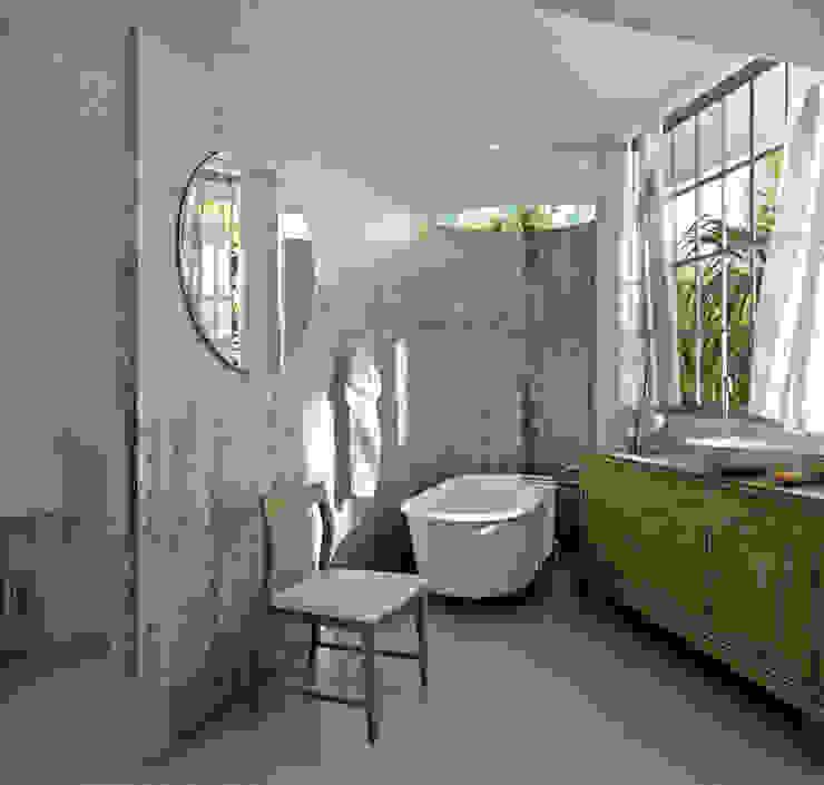 Baño M Baños modernos de Labrador Arquitectos Moderno Concreto