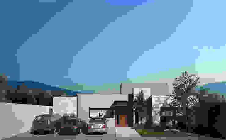 Fachada Principal Garajes modernos de Ambás Arquitectos Moderno
