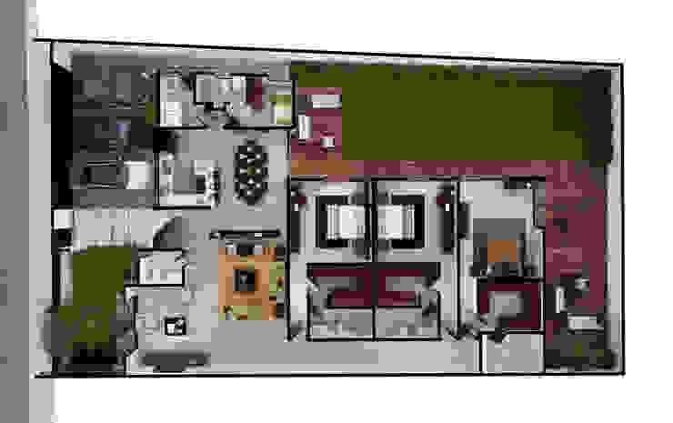 Planta Arquitectónica Baños modernos de Ambás Arquitectos Moderno