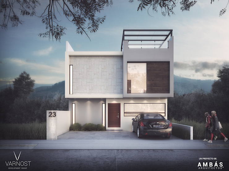Modern garage/shed by Ambás Arquitectos Modern