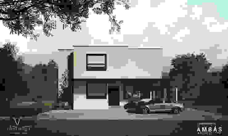 Fachada Principal Casas estilo moderno: ideas, arquitectura e imágenes de Ambás Arquitectos Moderno