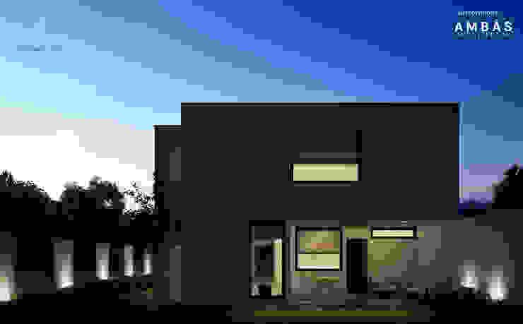 Terraza Posterior Balcones y terrazas modernos de Ambás Arquitectos Moderno