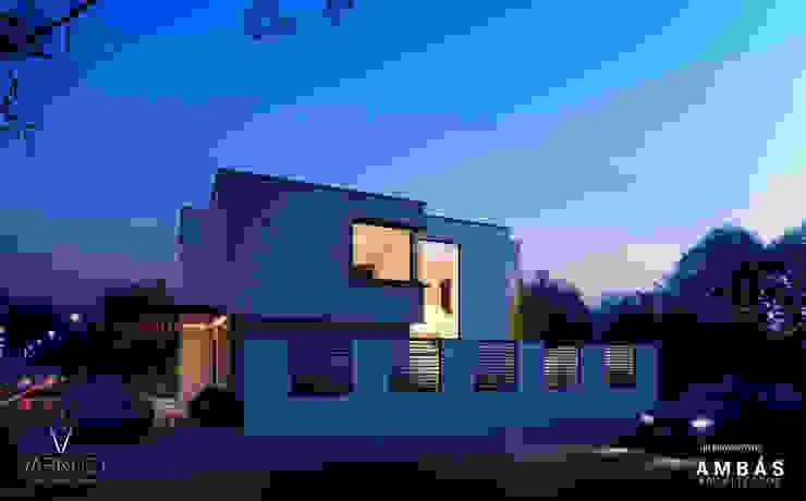 Pérgolas en Acceso Casas estilo moderno: ideas, arquitectura e imágenes de Ambás Arquitectos Moderno