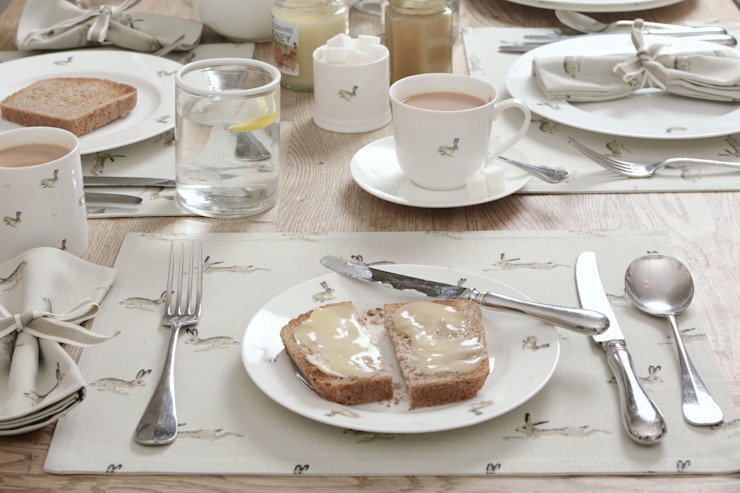 Sophie Allport Hare Tableware: country  by Sophie Allport, Country Porcelain