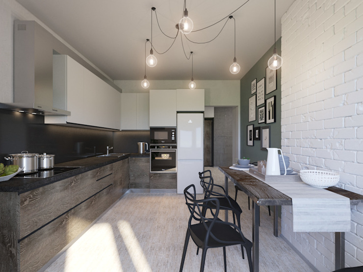 Industrial style kitchen by Bovkun design Industrial