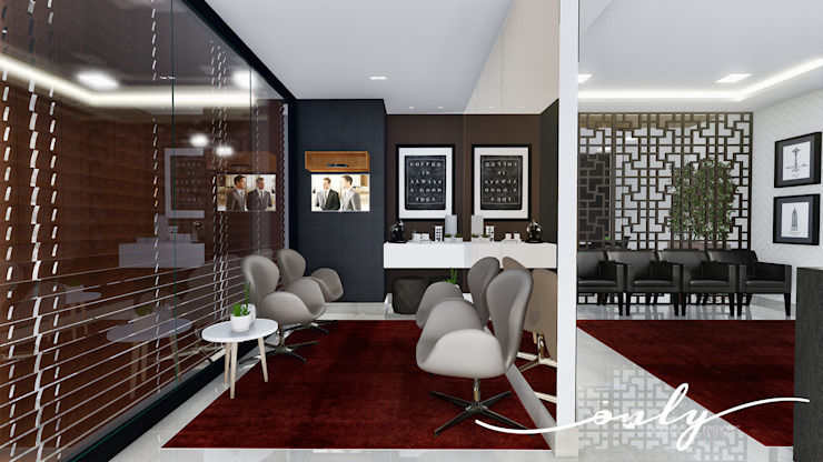 Sala de Espera Modern study/office by Only Design de Interiores Modern