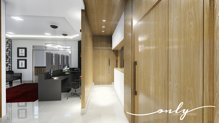 Corredor Modern study/office by Only Design de Interiores Modern