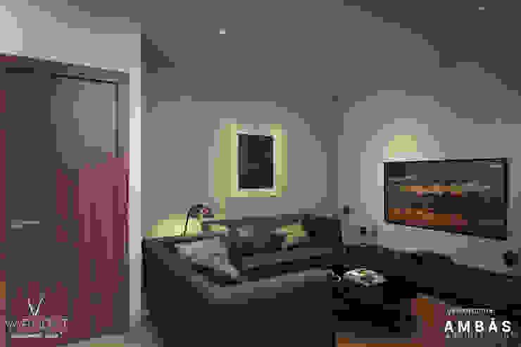 Sala de TV de Ambás Arquitectos Moderno