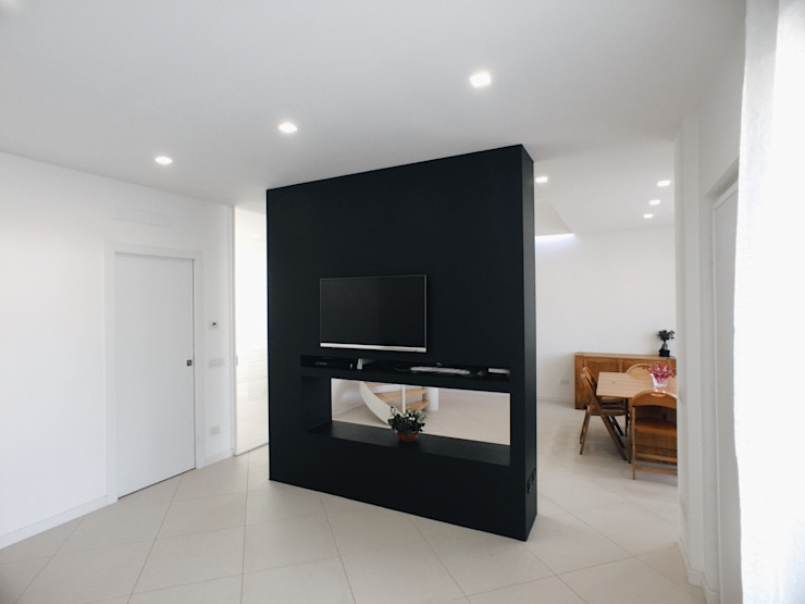 Salas modernas de M16 architetti Moderno